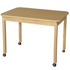 "Mobile 30"" x 44"" Rectangle High Pressure Laminate Table with Hardwood Legs-29"""