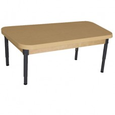 "30"" x 44"" Rectangle High Pressure Laminate Table with Adjustable Legs 12""-17"""