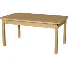 "30"" x 48"" Rectangle High Pressure Laminate Table with Hardwood Legs-14"""