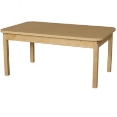 "30"" x 48"" Rectangle High Pressure Laminate Table with Hardwood Legs-16"""