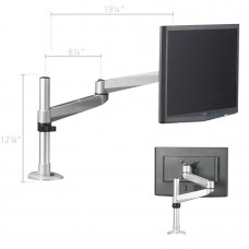 Post Mount for 1 Monitor with 2 Extension Brackets
