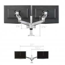 Post Mount for 2 Monitors with 2 Extension Brackets