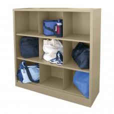 "Sandusky® 52""H x 46""W x 18""D Steel Cubby Storage Organizer, 9 Compartment, Charcoal"