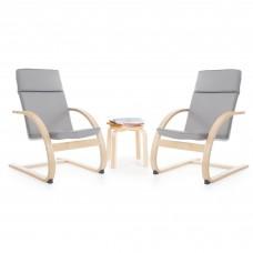 Kiddie Rocker Chair Set - Gray