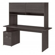Bush Business Furniture Jamestown 72W Desk with 2 Drawers and Hutch