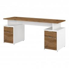 Bush Business Furniture Jamestown 72W Desk with 4 Drawers