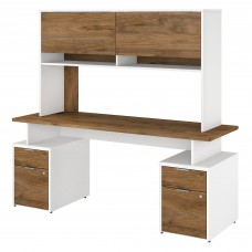 Bush Business Furniture Jamestown 72W Desk with 4 Drawers and Hutch