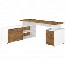 Bush Business Furniture Jamestown 72W L Shaped Desk with Drawers