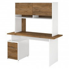 Bush Business Furniture Jamestown 60W Desk with 2 Drawers and Hutch