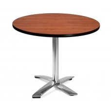 "36"" Round Folding Multi-Purpose Table, Cherry"