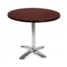 "36"" Round Folding Multi-Purpose Table, Mahogany"