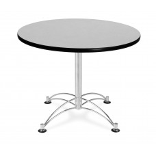"OFM Round Multi-Purpose Table, 36"", Gray Nebula"