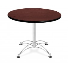 "OFM Round Multi-Purpose Table, 36"", Mahogany"