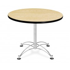 "OFM Round Multi-Purpose Table, 36"", Oak"