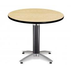 "OFM Round Multi-Purpose Mesh Base Table, 36"", Oak"