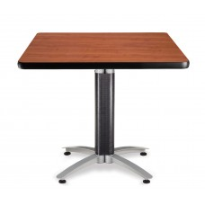 "OFM Square Multi-Purpose Mesh Base Table, 36"", Cherry"