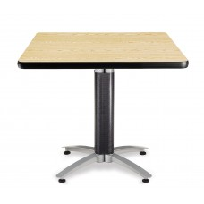 "OFM Square Multi-Purpose Mesh Base Table, 36"", Oak"