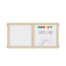 "KYDZ Suite® Panel - T-height - 48"" Wide - Magnetic Write-n-Wipe"