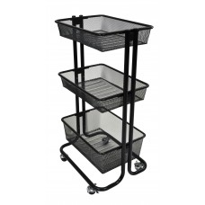 Luxor Kitchen Utility Cart - Black