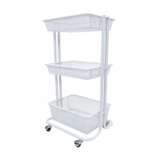 Luxor Kitchen Utility Cart - White