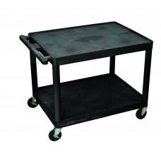 Luxor Endura A/V Cart 2 Shelves Black