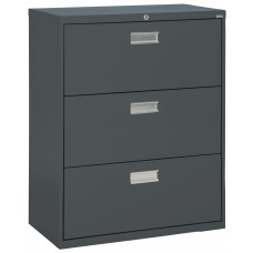 "Sandusky 36"" Lateral File, 3-Drawer, Forest Green"