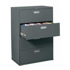 "Sandusky 36"" Lateral File, 4-Drawer, Forest Green"