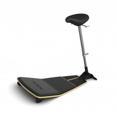 Locus™ Seat by Focal Upright™ - Matte Black (base);Black Nubuck (seat)