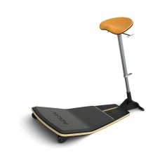 Locus™ Seat by Focal Upright™ - Matte Black (base);Citrus (seat)