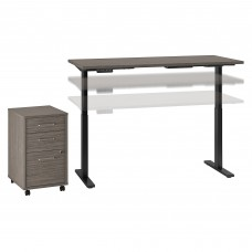 Move 60 Series by Bush Business Furniture 72W x 30D Height Adjustable Standing Desk with Storage
