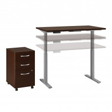 Move 60 Series by Bush Business Furniture 48W x 24D Height Adjustable Standing Desk with Storage