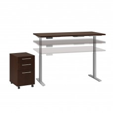Move 60 Series by Bush Business Furniture 60W x 30D Height Adjustable Standing Desk with Storage