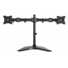 Height Adjustable Articulating Monitor Arm - Double with Desk Base
