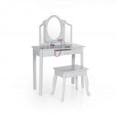 Classic Vanity and Stool - Gray