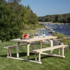 Bestar White Cedar Riverside Picnic Table