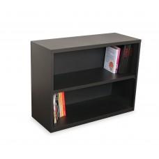 Ensemble Two Shelf Bookcase, 36W x 14D x 27H - Dark Neutral