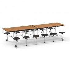 "Rectangular Stool Tables - Stool/Table Height: 17""/29"" - Grades 5 - Adult"