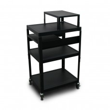 MV2642 Cart with 1 Pull-Out Front-Shelf, Expansion Shelf, and Electrical