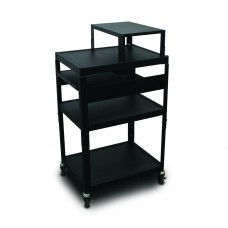 MV2642 Cart with 2 Pull-Out Side-Shelves, Expansion Shelf, and Electrical