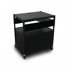 Adjustable Cart with 1 Pull-Out Side-Shelf, Cabinet,  and Electrical