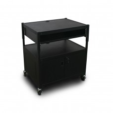 Adjustable Cart with 1 Pull-Out Front-Shelf, Cabinet,  and Electrical