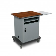 "Marvel Vizion  Instructor Series Teacher Workstation - Bronze, 16""W x 17.5""D Slow Close Shelf, Lockable Door."