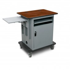 "Marvel Vizion  Instructor Series Teacher Workstation - Copper,  14""W x 14.5""D Adjustable Height Side Shelf, Lockable Door."