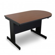 Marvel Vizion Peninsula Laminate Top Side Table with Modesty Panel - (Cherry Laminate)