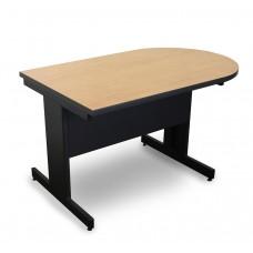 Marvel Vizion Peninsula Laminate Top Side Table with Modesty Panel - (Kensington Maple Laminate)