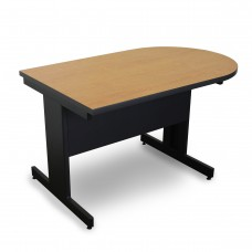 Marvel Vizion Peninsula Laminate Top Side Table with Modesty Panel - (Oak Laminate)