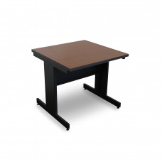 Marvel Vizion Rectangular Laminate Top Side Table with Modesty Panel - (Cherry Laminate)