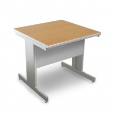 Marvel Vizion Rectangular Laminate Top Side Table with Modesty Panel - (Oak Laminate)