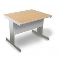 Marvel Vizion Rectangular Laminate Top Side Table with Modesty Panel - (Kensington Maple Laminate)