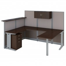 Bush Business Furniture Office in an Hour U Shaped Reception Desk with Storage